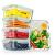 FITPREP® Frischhaltedosen aus Glas mit Deckel [5 Stück - 840ml] - super für Meal Prep - Glasbehälter mit Deckel der 100% dicht ist - inkl. schönem Rezeptheft - 1