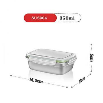 GA Homefavor Lunch Box Edelstahl Lebensmittel Obst Salat Container (2er Set) - 2