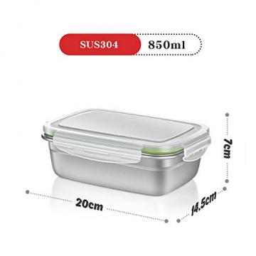 GA Homefavor Lunch Box Edelstahl Lebensmittel Obst Salat Container (2er Set) - 5