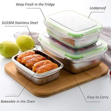 GA Homefavor Lunch Box Edelstahl Lebensmittel Obst Salat Container (2er Set) - 7