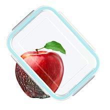 GENICOOK Glas-Frischhaltedose Set 9er,Glas aufbewahrungsbehälter,Glas vorratsdosen mit Deckel für küche,lebensmittelbehälter aus Glas, Meal prep Boxen, BPA-frei-Glasbehälter - 2