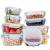 GENICOOK Glas-Frischhaltedose Set 9er,Glas aufbewahrungsbehälter,Glas vorratsdosen mit Deckel für küche,lebensmittelbehälter aus Glas, Meal prep Boxen, BPA-frei-Glasbehälter - 9