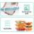 Glas-Frischhaltedosen [10 Dosen & 10 Deckel] luftdicht, BPA-Frei, Geeignet für Mikrowelle, Gefrierschrank und Spülmaschine - 4