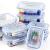 Glas-Frischhaltedosen [10er Set] Vorratsbehälter mit Deckel, Luftdicht, Rechteckig Glas, Geeignet für Mikrowelle, Gefrierschrank und Spülmaschine - 5