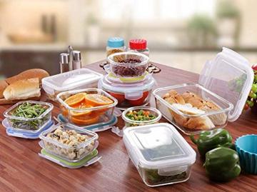 Glas-Frischhaltedosen 18 Stück [9 Behälter + 9 Deckel] - Glasbehälter - Transparente Deckel - BPA frei - für Home Küche oder Restaurant - von KICHLY - 2