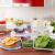 Glas-Frischhaltedosen 18 Stück [9 Behälter + 9 Deckel] - Glasbehälter - Transparente Deckel - BPA frei - für Home Küche oder Restaurant - von KICHLY - 6