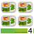 Glas-Frischhaltedosen - 4er Set mit Deckel - Prep Naturals - 1000 ml Behälter - 3 Fächer - Lunchbox-, Bento-, Aufbewahrungsdosen - Mikrowellen-, Ofen- u. Gefrierschrankgeeignet, Spülmaschinenfest - 6