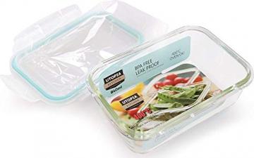 Glas-Frischhaltedosen 6 Stück [3 Behälter + 3 Deckel] - Glasbehälter - Transparente Deckel - BPA frei - FDA-zugelassene Behälter - für Home Küche oder Restaurant von KICHLY - 4