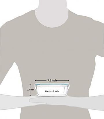 Glas-Frischhaltedosen 6 Stück [3 Behälter + 3 Deckel] - Glasbehälter - Transparente Deckel - BPA frei - FDA-zugelassene Behälter - für Home Küche oder Restaurant von KICHLY - 5