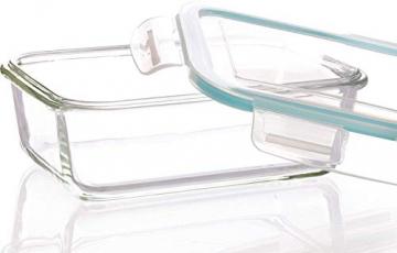 Glas-Frischhaltedosen 6 Stück [3 Behälter + 3 Deckel] - Glasbehälter - Transparente Deckel - BPA frei - FDA-zugelassene Behälter - für Home Küche oder Restaurant von KICHLY - 6