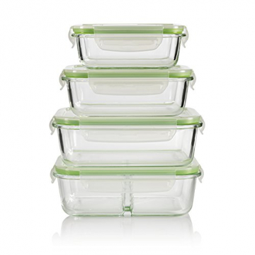 GOURMETmaxx Glas-Frischhaltedosen Klick-it 8-tlg. - 1