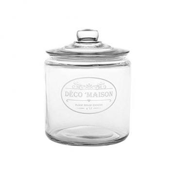 HABI Dose mit Deckel, 4Liter, Glas, transparent, 19x 19x 24cm - 1