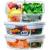 Home Planet Meal Prep Boxen Glas 2 Fach   1050ml 3er Set   97% weniger Kunststoffverpackungen   Mealprepdosen Glas   Meal Prep Glas   Lunchbox Glas   Bento Box Glas   Meal Prep Containers Glas - 1
