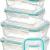 KICHLY Glas-Frischhaltedosen 12 Stück [6 Behälter + 6 Deckel] - Glasbehälter - Transparente Deckel - BPA frei - für Home Küche oder Restaurant - 1