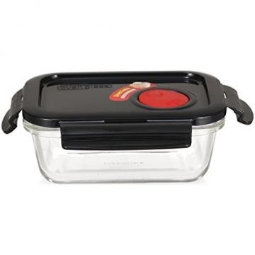 LOCK & LOCK Frischhaltedose aus Glas mikrowellengeeignet - Oven Glass - Für Backofen, Mikrowelle & zum Einfrieren - Mikrowellengeschirr, 380 ml - 2