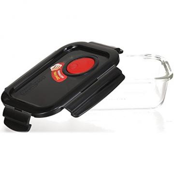 LOCK & LOCK Frischhaltedose aus Glas mikrowellengeeignet - Oven Glass - Für Backofen, Mikrowelle & zum Einfrieren - Mikrowellengeschirr, 380 ml - 3