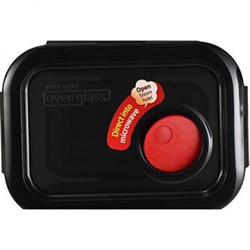 LOCK & LOCK Frischhaltedose aus Glas mikrowellengeeignet - Oven Glass - Für Backofen, Mikrowelle & zum Einfrieren - Mikrowellengeschirr, 380 ml - 5