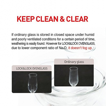 Lock & Lock Glass, Borsilikatglas, rund, 650 ml. (∅ 155 x 75mm) - 10