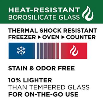 Lock & Lock Glass, Borsilikatglas, rund, 650 ml. (∅ 155 x 75mm) - 4