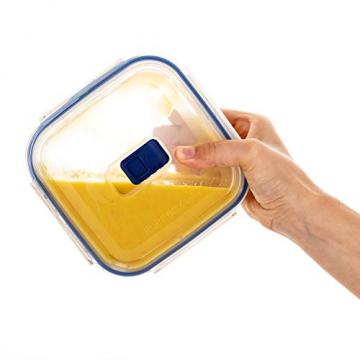 Luminarc Pure Box Active Frischhaltedosen aus Glas, extra stark, BPA-frei, Mikrowelleventil, 5 Stück - 2