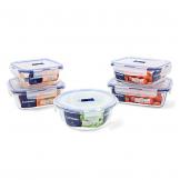 Luminarc Pure Box Active Frischhaltedosen aus Glas, extra stark, BPA-frei, Mikrowelleventil, 5 Stück - 1