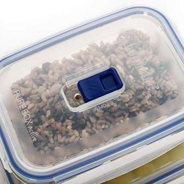 Luminarc Pure Box Active Frischhaltedosen aus Glas, extra stark, BPA-frei, Mikrowelleventil, 5 Stück - 3