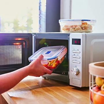 Luminarc Pure Box Active Frischhaltedosen aus Glas, extra stark, BPA-frei, Mikrowelleventil, 5 Stück - 5