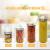 Luxury & Grace Set 4 Vorratsdosen aus Glas, 1,2 L (23x10 cm), Behälter mit Schraubverschluss. - 5