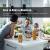 Numyton Stapelbare 4er-Set Frischhaltedosen mit Deckel BPA frei Vorratsdosen Lebensmitteldosen, Milchpulverdosen, Trockenfrüchte-Dosen luftdicht & wasserdicht, Weiß/Transparent - 3