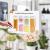 Numyton Stapelbare 4er-Set Frischhaltedosen mit Deckel BPA frei Vorratsdosen Lebensmitteldosen, Milchpulverdosen, Trockenfrüchte-Dosen luftdicht & wasserdicht, Weiß/Transparent - 4
