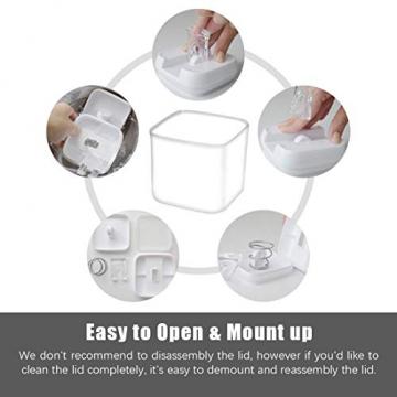 Numyton Stapelbare 4er-Set Frischhaltedosen mit Deckel BPA frei Vorratsdosen Lebensmitteldosen, Milchpulverdosen, Trockenfrüchte-Dosen luftdicht & wasserdicht, Weiß/Transparent - 5