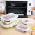 Praknu Frischhaltedosen mit Deckel 4er Set aus Glas - Luftdicht - Spülmaschinenfest - BPA frei - Borosilikatglas - 3