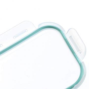 Praknu Frischhaltedosen mit Deckel 4er Set aus Glas - Luftdicht - Spülmaschinenfest - BPA frei - Borosilikatglas - 7