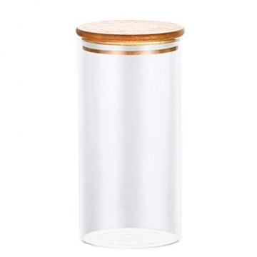 Praknu Vorratsdosen Glas mit Deckel 4er Set - Luftdicht - 8 Dichtungen - 1,2 L - Spülmaschinenfest - 5