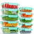 Rechteckig Vorratsbehälter mit Deckel [10 Teile] BPA-Frei, Clip & Close, Geeignet für Mikrowelle, Gefrierschrank und Spülmaschine - 2