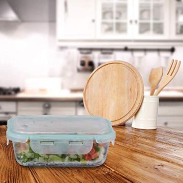 Relaxdays, klar Frischhaltedosen 3er Set Glas, Vorratsdosenset, BPA-Frei, hitzebeständig, Frischhaltebox, Clip-Deckel, Borosilikatglas, Plastik, Standard - 3