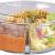Rosenstein & Söhne Vorratsdosen Glas: 3er-Set Glas-Frischhaltedosen, 3 Kammern, Klick-Deckel, -20 bis 520°C (Glas-Dose) - 4