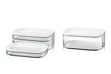 Rosti Mepal Kühlschrankdose Modula Aufschnitt 550/3 Weiß - 4