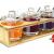 Sendez 3 Gewürzgläser mit Holzgestell und Löffeln Gewürzdosen Parmesandosen Marmeladendosen Set Honigdose Dose Zuckerdose Salzdose Vorratsdose 27x13x12cm 10-TLG - 1