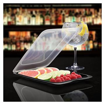 TATAY FRESH System - Hochwertige Aufschnitt-Boxen, Frischhaltedose für Aufschnitt. Optimale Aufbewahrung im Kühlschrank, 3 Stück, Maße 17 x 3.2 x 25.2 cm (3X Schwarz) - 3
