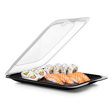 TATAY FRESH System - Hochwertige Aufschnitt-Boxen, Frischhaltedose für Aufschnitt. Optimale Aufbewahrung im Kühlschrank, 3 Stück, Maße 17 x 3.2 x 25.2 cm (3X Schwarz) - 4