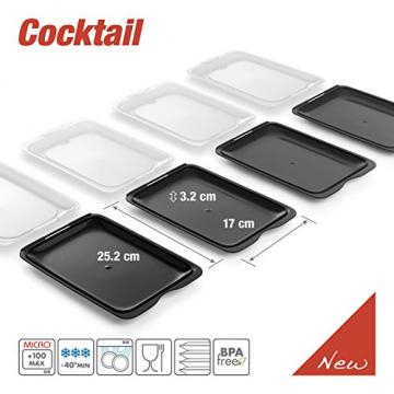 TATAY FRESH System - Hochwertige Aufschnitt-Boxen, Frischhaltedose für Aufschnitt. Optimale Aufbewahrung im Kühlschrank, 3 Stück, Maße 17 x 3.2 x 25.2 cm (3X Schwarz) - 5