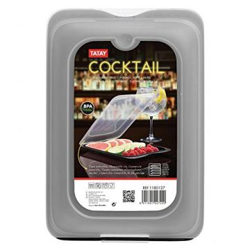 TATAY FRESH System - Hochwertige Aufschnitt-Boxen, Frischhaltedose für Aufschnitt. Optimale Aufbewahrung im Kühlschrank, 3 Stück, Maße 17 x 3.2 x 25.2 cm (3X Schwarz) - 9
