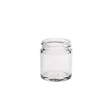 Viva Haushaltswaren - 10 x Glastiegel 30 ml, kleine Glasdosen mit Deckel als Cremetiegel, Schraubdeckelglas, Gewürzglas, Kosmetikdose etc. verwendbar (inkl. Beschriftungsetiketten) - 3