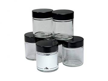 Viva Haushaltswaren - 10 x Glastiegel 30 ml, kleine Glasdosen mit Deckel als Cremetiegel, Schraubdeckelglas, Gewürzglas, Kosmetikdose etc. verwendbar (inkl. Beschriftungsetiketten) - 4