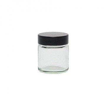 Viva Haushaltswaren - 10 x Glastiegel 30 ml, kleine Glasdosen mit Deckel als Cremetiegel, Schraubdeckelglas, Gewürzglas, Kosmetikdose etc. verwendbar (inkl. Beschriftungsetiketten) - 5