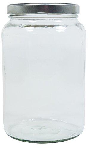 Viva-Haushaltswaren Gabriele Hesse e.K. Einmachglas 2er Set 1,7 Liter mit Schraubverschluss, Vorratsglas, Glasdose inkl. Beschriftungsetiketten (Silber) - 5