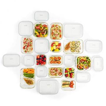 VonShef 12-teiliges Glasbehälter-Set zur Nahrungsmittelaufbewahrung mit Deckeln - 4