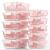 Vorratsbehälter mit Deckel [10 Teile] Glas-Frischhaltedosen, BPA-Frei, Clip & Close, Geeignet für Mikrowelle, Gefrierschrank und Spülmaschine - 5