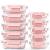 Vorratsbehälter mit Deckel [10 Teile] Glas-Frischhaltedosen, BPA-Frei, Clip & Close, Geeignet für Mikrowelle, Gefrierschrank und Spülmaschine - 1
